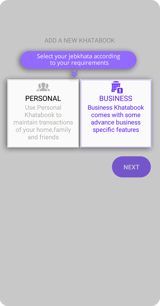 Personal & Business account Jebkhata